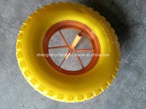 Flat Free PU Foam Wheel 4.00-8 pictures & photos