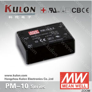 Meanwell Power Supply Pm-10 3.3V/5V/12V/15V/24V AC DC Medical Switching Power Supply