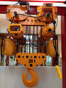 25ton Electric Chain Hoist with Hook Double Speed (WBH-25010D) pictures & photos