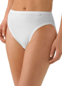 High Quality Pure Cotton Plain White Underwear Lady Panty pictures & photos