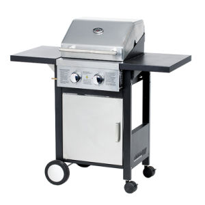 2 Burner Cheap Barbecue Euro Gas Grill Machine with Ce pictures & photos