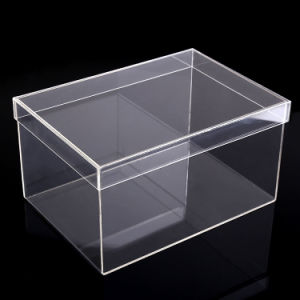 High Transparency Acrylic Shoe Display Case/Acrylic Shoe Boxes pictures & photos