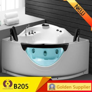 Fashion Acrylic Bathroom Massage Bathtub Corner Bathtub (B203) pictures & photos