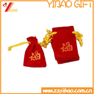 Customized Red Velvet Bag for Jewelry (YB-LY-VE-06) pictures & photos