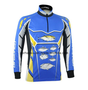 Quick-Drying Long Sleeve Fishing Shirt with Sublimation Printing pictures & photos