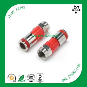RG6 Cable Compression Type F Male Red Connector pictures & photos