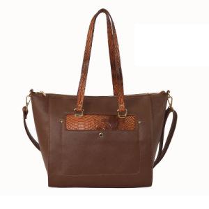 Latest PU Leather Handbag Elegant Ladies Trapeze Shoulder Bag Zxl049 pictures & photos