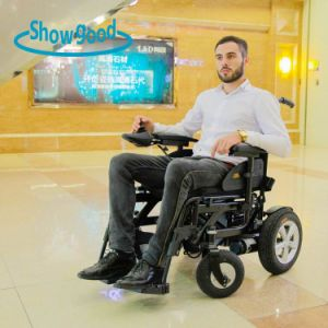 Showgood Easy Foldable Power Wheelchair for Travel