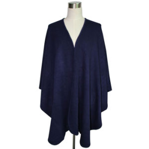 Lady Fashion Acrylic Knitted Plain Shawl (YKY4109-2) pictures & photos