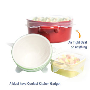 Food Grade 8 Multi Sizes Super Stretch Silicone Lids Food and Bowl Covers pictures & photos