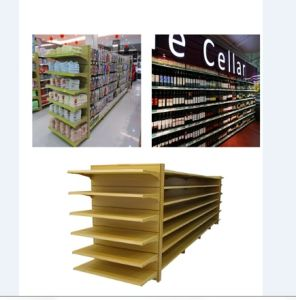 Wood Grain Supermarket Display Shelf pictures & photos