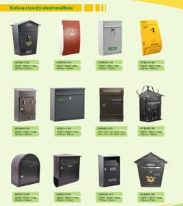 Waterproof Modern Steel Mailbox for Apartment Letterbox pictures & photos