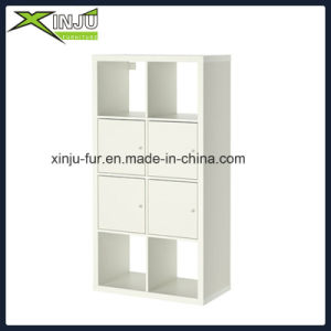 Simple/Easy Assemble Wooden Display Cabinet with 4 Doors