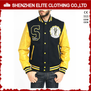 Leather Varsity Bomber Jacket Men 2016 pictures & photos