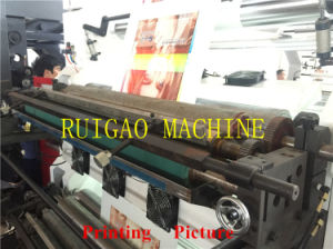 Four Color High Speed Flexo T Shirt Shopping Bag Printing Press Machine Price pictures & photos