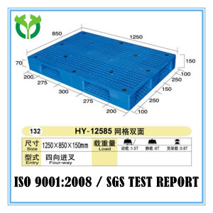 1250X850 Special Double Face Racking Plastic Four Way Entry Pallet