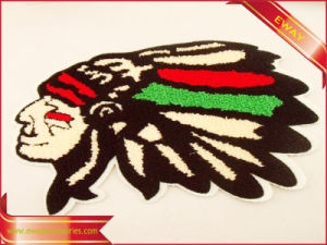 Custom Embroidery Embroidered Woven Label Patch for Garment pictures & photos