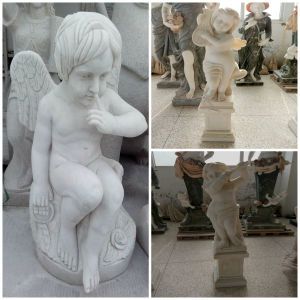 White Marble Angel Statue for Decoration pictures & photos