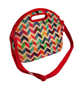 Fashion Colorful Neoprene Tote Lunch Bag pictures & photos