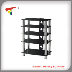 New Style High Tempered Glass TV Stand (TV011) pictures & photos
