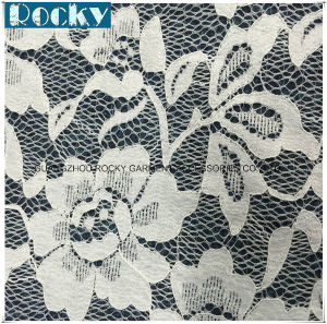 White Nylon Lace Textile Lace Fabric for Bride Dress pictures & photos