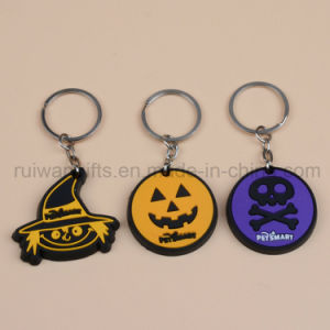 Promotion 3D Rubber Silicone Keychain in Halloween Styles pictures & photos