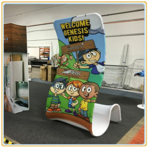 Cobra Shaped Display Stand/Floor Banner Stand pictures & photos