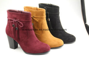 Bowknot Tassel Fashion Lady Ankle Boots with High Heel pictures & photos