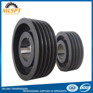 Customize Euro Iron Cast Groove Belt Pulley with Polished Made in China pictures & photos