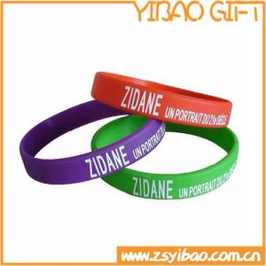 Logo Printing Silicone Wristband for Advertising Gift (YB-w-014) pictures & photos