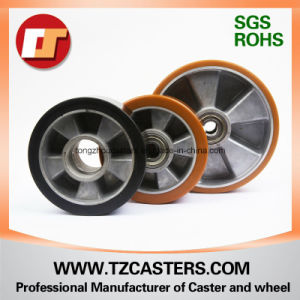 Swivel Caster with Brake PU Wheel with Aluminum Center pictures & photos