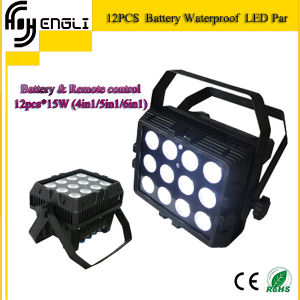 12PCS*15W 6in1 Battery LED PAR Light for Stage Party (HL-037) pictures & photos