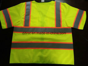 Safety Vest Short Sleeve with Reflective Caution Band Flu Yellow pictures & photos