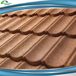 Red Stone Coated Metal Roofing Tile Roof Heat Insulation Materials Color Roof  Price