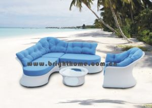 Wicker Rattan Furniture /Outdoor Patio Sofa pictures & photos