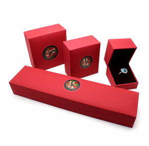 Red Pearl Art Paper Jewelry Gift Boxes pictures & photos