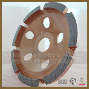 Good Quality Diamond Single Row Steel Base Grinding Cup Wheel pictures & photos