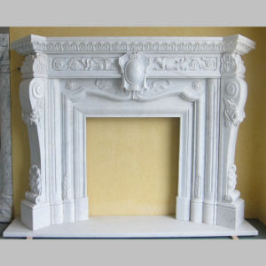 Cream Marfil Beige Marble Natural Carved Stone Fireplaces pictures & photos