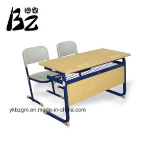 Double Table and Chair /School Furniture (BZ-0049) pictures & photos