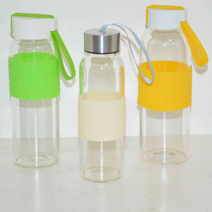 Simple Design Style and Borosilicate Glass Water Bottle for Drinking pictures & photos