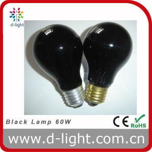 A60 A19 60W Double Filament Black Incandescent Lamp