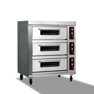 Good Quality Double-Layer Four-Tray Gas Pizza Oven for Bread Baking pictures & photos