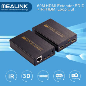 60m HDMI Extender Over Single Cat5e/6, HDMI Loop out (Bi-Directional IR+EDID+3D) pictures & photos