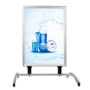 A1 Sidewalk Sign for Posters, with Spring Base, 2 Sided, Snap Open - Silver pictures & photos