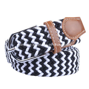 Upscale Designer New Fashion Colorful Unisex Elastic Woven Fabric Belt pictures & photos