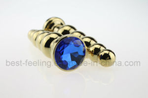 Gold Plated Anal Toys Diamond Crystal Jewelry Butt Plugs pictures & photos