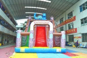 Dinosaur Castle Inflatable Dry Slide Chsl664 pictures & photos