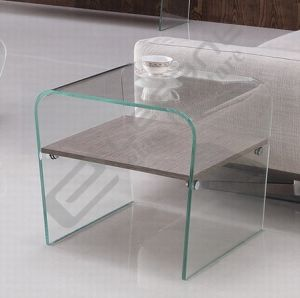 12 Mm Thick Glass Side Table Furniture with Plywood pictures & photos