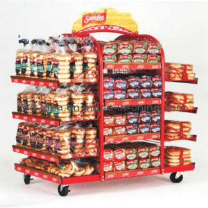 Rotatable Gondola Display Stand/Exhibition for Goods Promotion with Caster (A002) pictures & photos