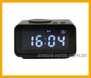 Hotel Dual USB Charging Alarm Clock Docking Station pictures & photos